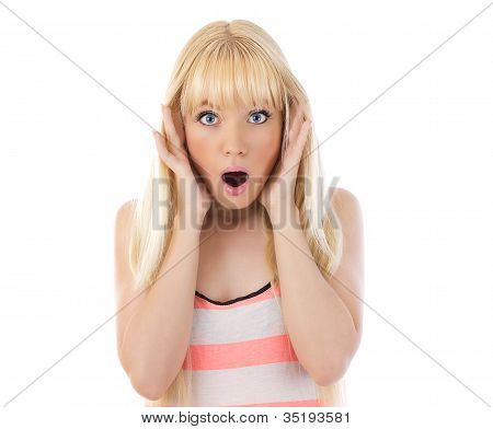 Woman Looking Surprise