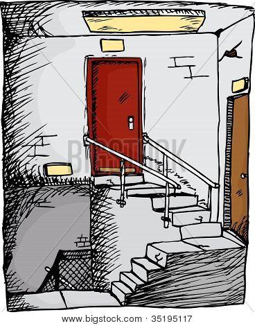 Escadaria vazia