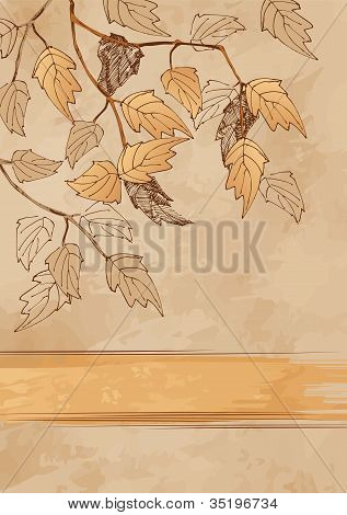 Vertical Autumn Grunge Background