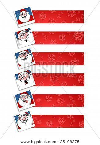 Santa banners