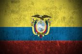 picture of guayaquil  - Dirty Weathered Flag Of Ecuador fabric textured - JPG