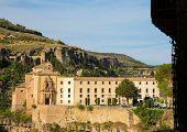 stock photo of parador  - Parador nacional of Cuenca in Castille La Mancha Spain - JPG