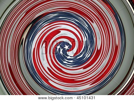 Graphic Swirl of an American Flag