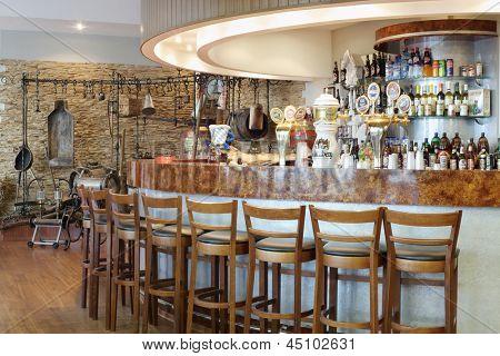 MOSCOW - MAY 31: Museum, bar to taste in Ochakovo factory, May 31 2012, Moscow Russia. Ochakovo company has brands Ochakovo, Ochakovo Premium Black lung, Ochakovo Premium Lager, Barley ear, Kaltenberg