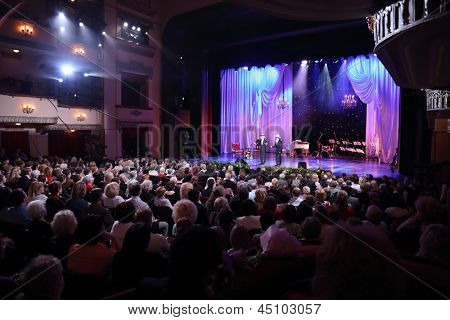 MOSCOW - APR 23: Ball Crystal Turandot, dedicated to anniversary of Svetlana Nemolyaeva in Vakhtangov Theatre, Apr 23, 2012 in Moscow, Russia. Nemolyaeva - Soviet and Russian theater and film actress.