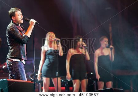 MOSCOW - APR 5: Unique solo concert of Emin Agalarov in a concert hall Izvestia-hall, on April 5, 2012 in Moscow, Russia