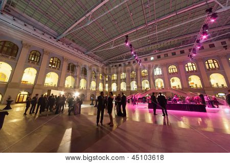 MOSCOW - APR 12: People go on hall and communicate after Ceremony of rewarding of winners of an award Brand of year of EFFIE 2011, on April 12, 2012 in Moscow, Russia