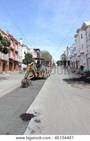 Roadworks in San Francisco