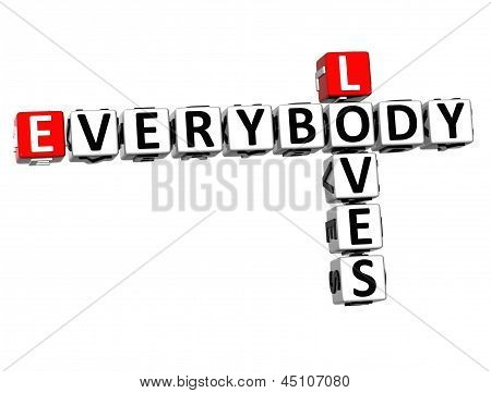 3D Loves Everybody Crossword