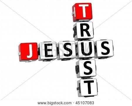 3D Trust Jesus Crossword