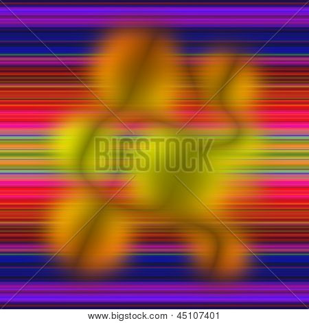 Aimless Color Abstract Composition With A Weak Blurriness On Multicolor Background.