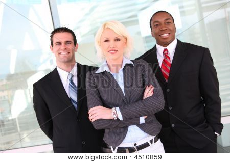 Attractive Business Team At Office