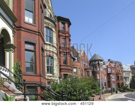 Dc Victorian Rowhouses Street Wide