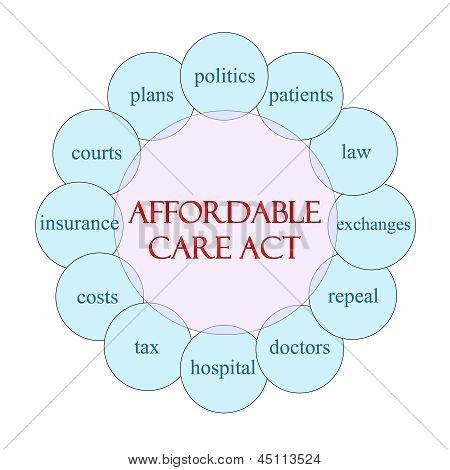Affordable Care Act Circular Word Concept