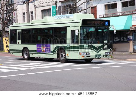 Hybrid Bus In Kyoto