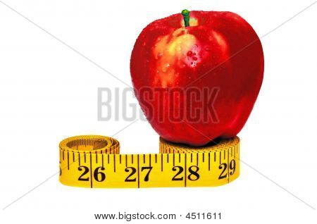 Apple On The Measuring Tape