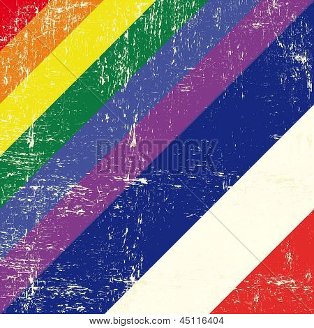 Netherlands and gay grunge Flag. Mixed grunge gay flag with netherlands flag.