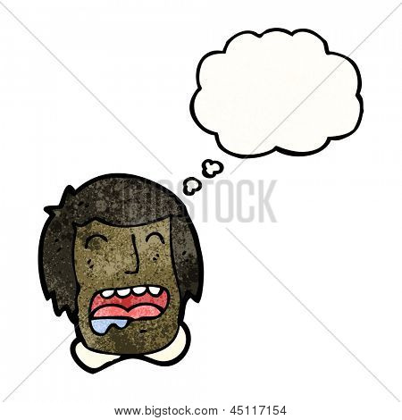 drooling man cartoon