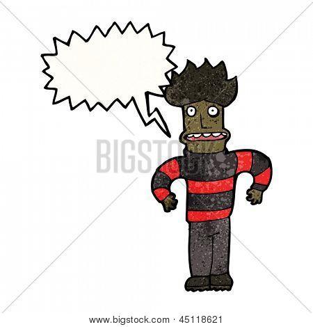 cartoon highly strung man