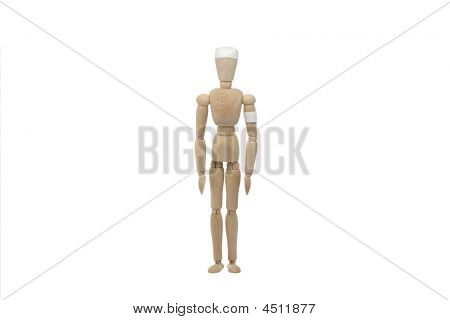 Wooden Man With Uniform
