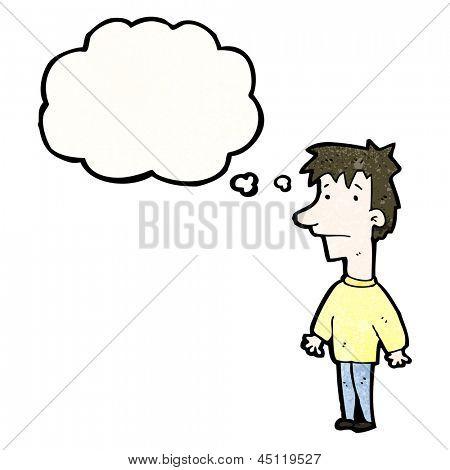 cartoon unsure boy
