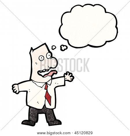 cartoon insane boss