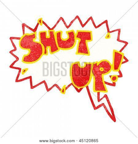shut up cartoon shout