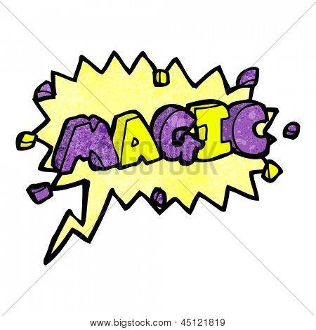 magic cartoon comic book shout