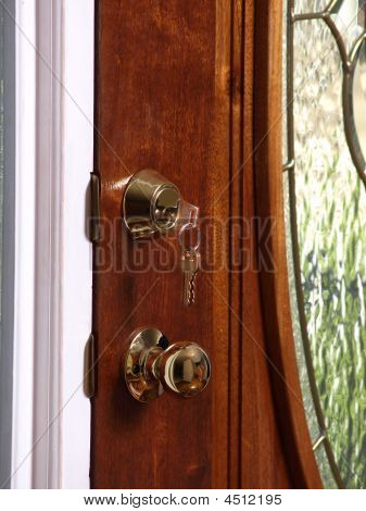 Key In Glass Door