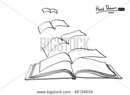 手矢量图绘制的飞书.