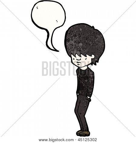 cartoon goth teen boy