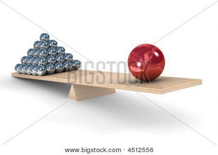 Leadership Concept On A White Background. Isolated 3D Image