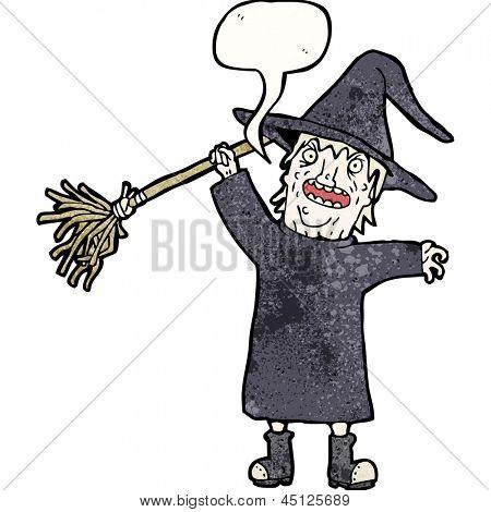 spooky witch cartoon