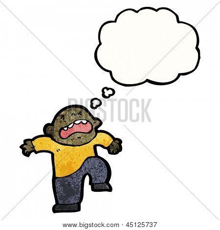 cartoon boy stamping foot