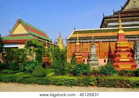 Preah Prom reath Pagoda in Siem Reap Cambodia
