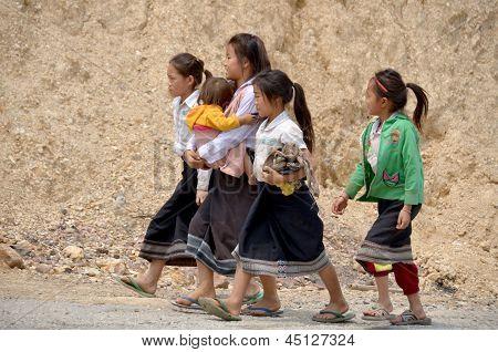 Laotian hmong children
