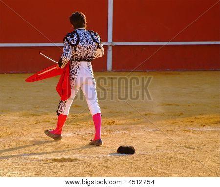 Bullfighter Walks In