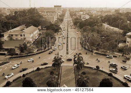 Bird eye view of the traffic