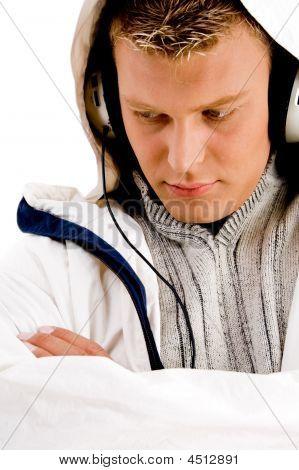 Music Guy Enjoying Songs