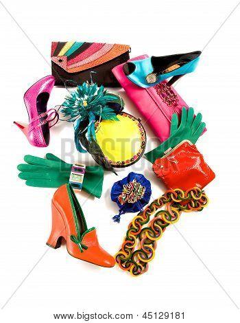 Color Block Still Life Fashion Composition