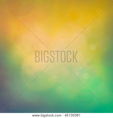 Colorful Yellow Bokeh Background