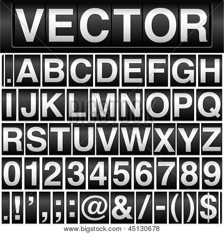 Odometer Alphabet and Numbers