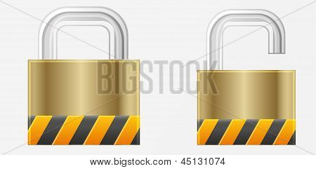 Cyber Security Lock And Open