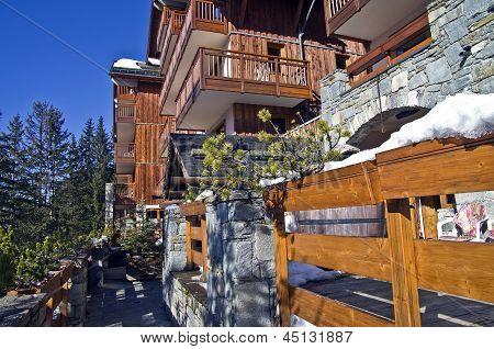A Small Hotel In The Ski Resort.