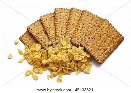 Tasty Crispy Biscuits Isolated, Healthy Food