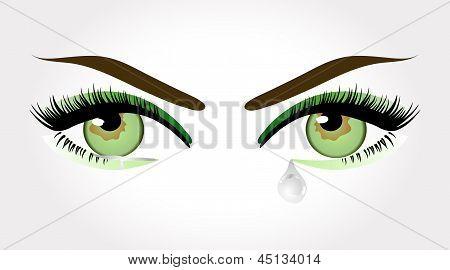 Groene ogen huilen