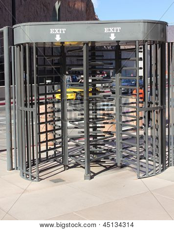 Security turnstile gates