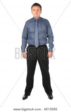 Fat Man In Office Clothes