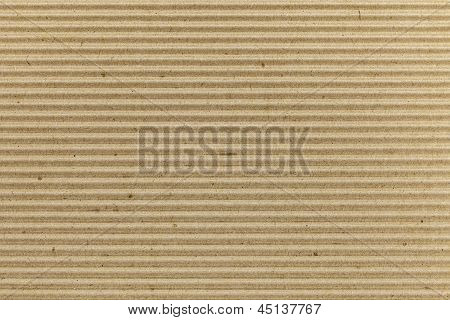 Brown corrugated cardboard texture