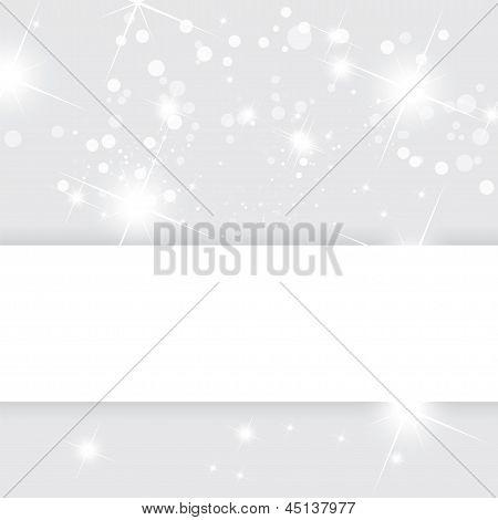 Silberne Abstract Vector Hintergrund, Weihnachten-Vorlage